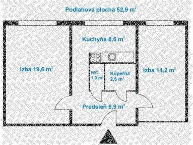 Predaj 2 izb.byt , Bratislava IV, Galbavého, Dúbravka
